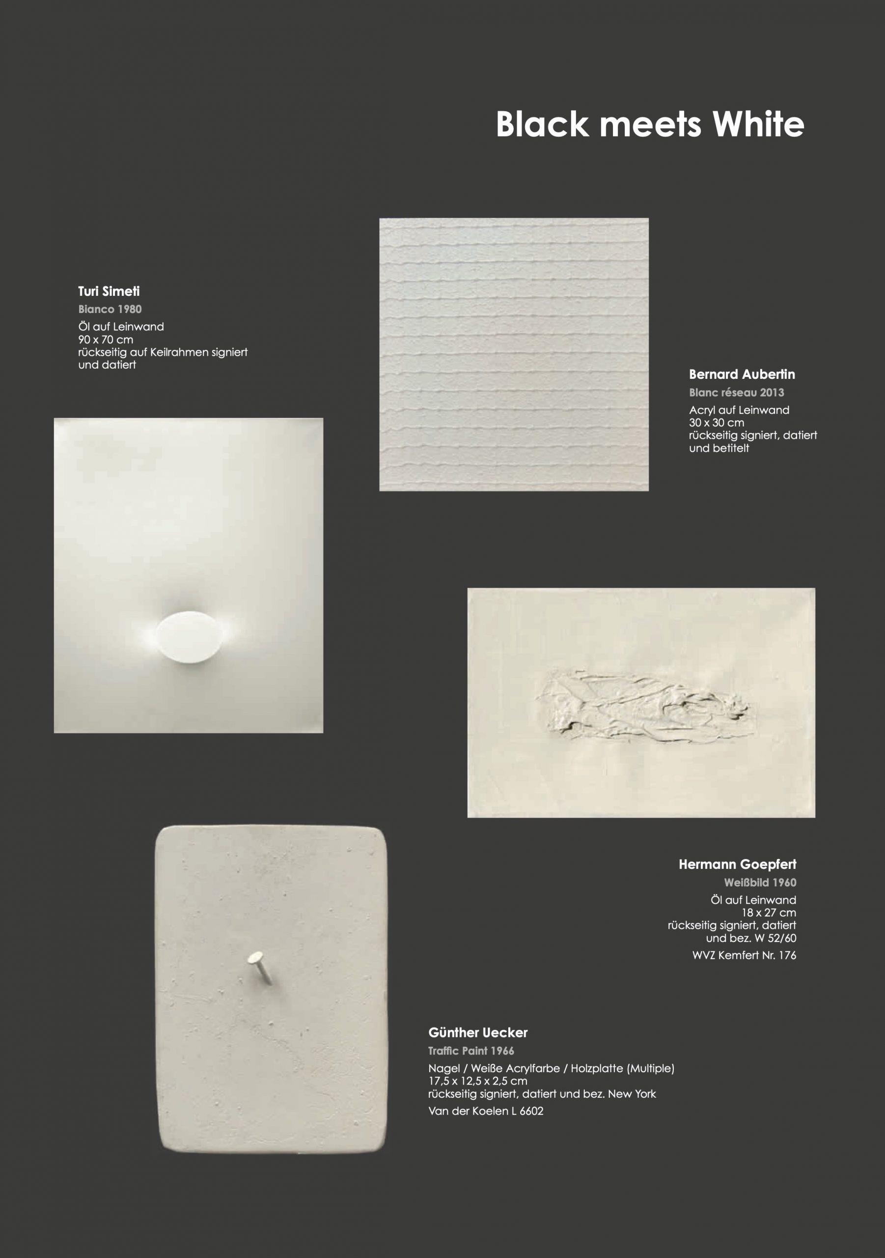 Ausstellung Black meets White 2021 Galerie Maulberger 04