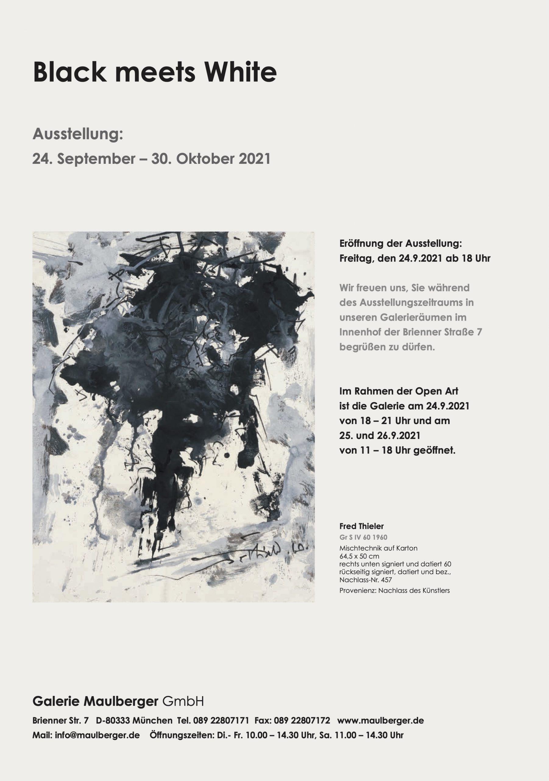 Ausstellung Black meets White 2021 Galerie Maulberger 06