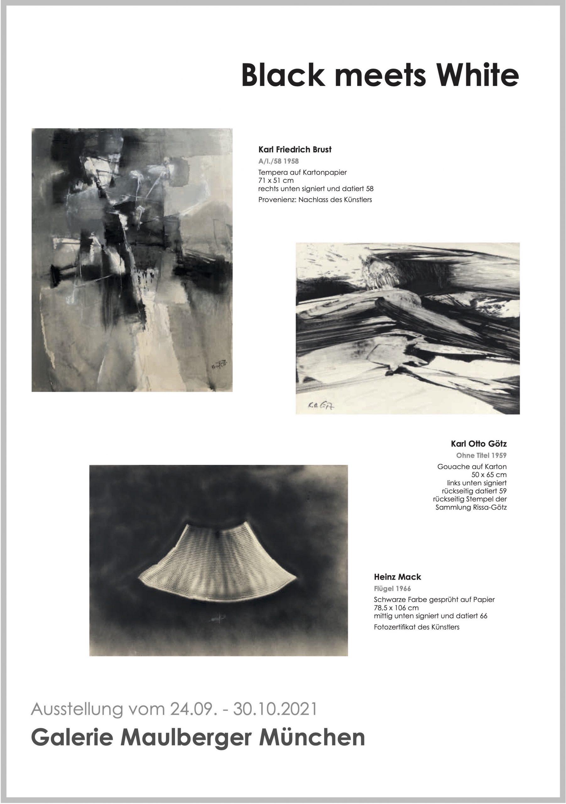 Ausstellung Black meets White 2021 Galerie Maulberger 1