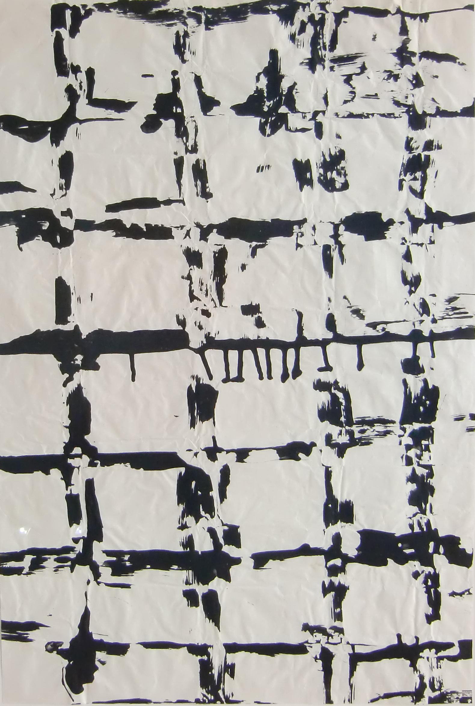 26 – Herbert Zangs (1924 – 2003)<br><br>Ohne Titel / Gratbild 1980er Jahre<br>Dispersionsfarbe auf Papier<br>75,3 x 50,5 cm<br>rückseitig Nachlass-Stempel<br>Provenienz: Nachlass des Künstlers<br>Die Arbeit ist in das Herbert Zangs Nachlass-Archiv Maulberger aufgenommen.