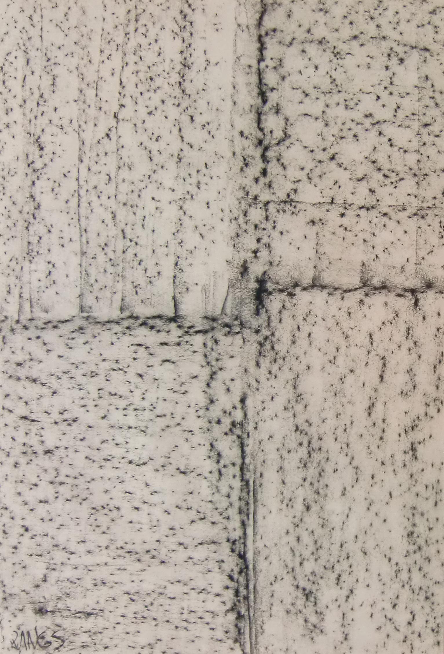 22 – Herbert Zangs (1924 – 2003)<br><br>Ohne Titel / Frottage um 1980<br>Graphit auf Papier<br>69,4 x 47,0 cm<br>links unten signiert<br>rückseitig Nachlass-Stempel<br>Provenienz: Nachlass des Künstlers<br>Die Arbeit ist in das Herbert Zangs Nachlass-Archiv Maulberger aufgenommen.